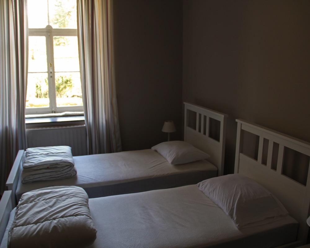 Le Moulin des Jardins d''Annevoie - chambre à coucher 2 lits