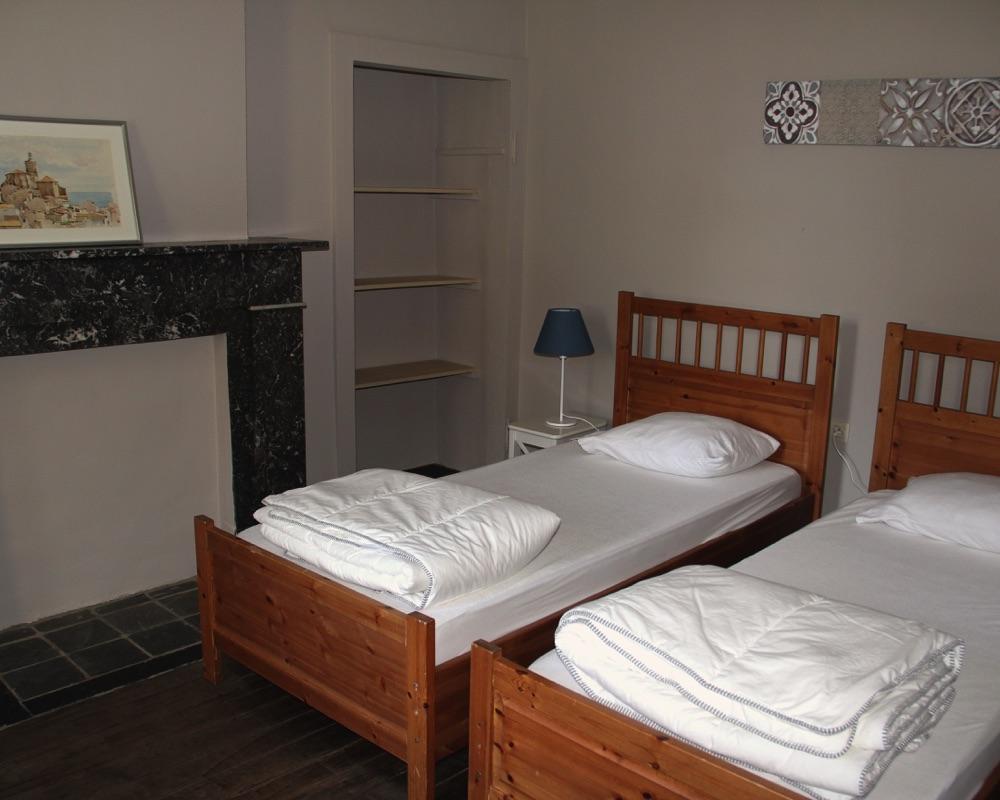 Le Moulin des Jardins d''Annevoie - chambre à coucher