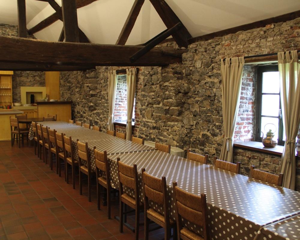 Le Moulin des Jardins d''Annevoie - salle à manger 32 couverts